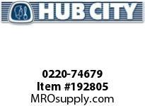 HUBCITY 0220-74679 125M 2/1 A SP 60MM BEVEL GEAR DRIVE