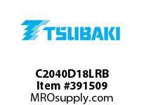 US Tsubaki C2040D18LRB C2040 RIV 8L/D-1