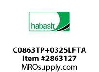 "Habasit C0863TP+0325LFTA 863 Tab 3.25"" Top Plate Low Friction Acetal"
