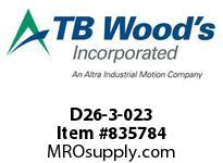 TBWOODS D26-3-023 HUB D26 CI MYCOM A TPR 2.441LE