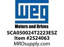WEG SCA050024T2223ESZ SCA05 SERVO 24A 220V 3AC VFD - CFW