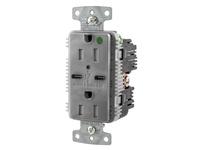 HBL_WDK USB8200C5GY RCPT HG DUP 15A 125V 5A 5V USB PORT C GY