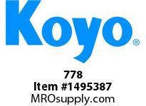 Koyo Bearing 778 TAPERED ROLLER BEARING