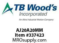 TBWOODS AJ20A20MM AJ20-AX20MM FF COUP HUB