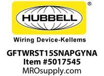 HBL_WDK GFTWRST15SNAPGYNA 15A COM ST TRWR SNAP GFR USA GRAY