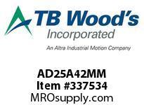 TBWOODS AD25A42MM HUB AD25-42MM DIA 12X3.3 KW