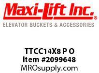 Maxi-Lift TTCC14X8 P O TIGER-CC STANDARD POLYETHYLENE ELEVATOR BUCKET