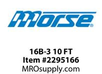 Morse 2361186 16B-3 10 FT MORSE BRIT. STD. ROLLER CHAIN-900