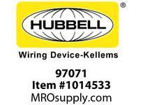 HBL-WDK 97071 WALLPLATE 1-G TOG OPENING SS