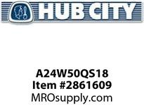 HUB CITY A24W50QS18 W240 ASSY WORM INTG 50/1 182TC Service Part