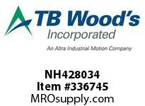 TBWOODS NH428034 NH4280X3/4 FHP SHEAVE