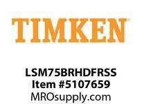 TIMKEN LSM75BRHDFRSS Split CRB Housed Unit Assembly