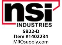 NSI SB22-D 22-16 SHRINK TUBE BUTT CONNECTORS