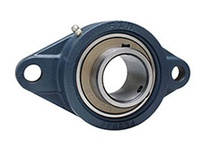 FYH UCFL208ENP 40MM ND SS 2 BOLT FLANGE UNIT - NICKEL