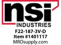 NSI F22-110-3V-D 22-18 AWG VINYL FEMALE DISCONNECT .110 X .32