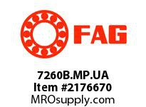 FAG 7260B.MP.UA SINGLE ROW ANGULAR CONTACT BALL BEA
