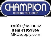Champion 328X13/16-10-32 HS ROUND SCREW ADJ DIES