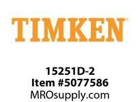 TIMKEN 15251D-2 TRB Double Cup Component <4 OD