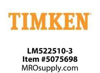 TIMKEN LM522510-3 TRB Single Cup Precision 4-8 OD