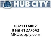 HubCity 8321116002 BEARING BALL S7K OR EQ KOYO EE5