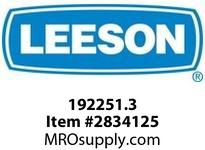 Leeson 192251.3 1 1/2HP - 1.1kW3600RPM.D80.TEFC.575V.3PH.60HZ .CONT.40CB3 :