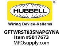 HBL_WDK GFTWRST83SNAPGYNA 20A COM ST TRWR HG SNAP GFR USA GRAY