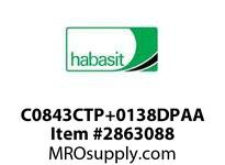 "Habasit C0843CTP+0138DPAA 843 Chamfer Top Plate 1.38"" Acetal"