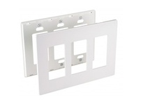 Orbit OPS263-A 3-G WALL PLATE - SWITCH ALMOND