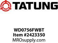 Tatung WD0756FWBT 75 HP 1200 RPM 444T FRAME Design D Torque 91 F/L AMPS 91 NOM> TEFC Foot Mounded F2 Conduit Baox 6