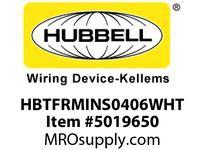 HBL_WDK HBTFRMINS0406WHT WBACCSINSERT4^Hx6^Wx120^LPLYMER WHT
