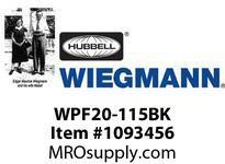 WIEGMANN WPF20-115BK FANFILTERBLACK115V50/60HZ