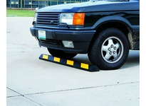 Cortina 2049PB 4 foot Parking Block - Black Rubber w/Yellow Reflective Stripes