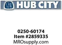 HUB CITY 0250-60174 SSHB2073PL 11.37 143TC Helical-Bevel Drive