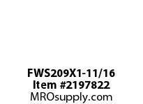 PTI FWS209X1-11/16 4-BOLT FLANGE BEARING-1-11/16 FWS 200 GOLD SERIES - NORMAL DUTY -