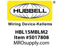 HBL_WDK HBL15MBLM2 SINGLE POLE SER 15 MALE PLUG 150A BL