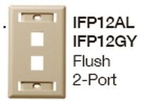 HBL-WDK IFP12GY PLATE WALLFLUSH1-G2PORTGY