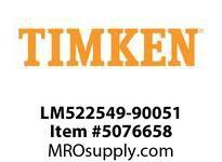 TIMKEN LM522549-90051 TRB Single Cone Precision 4-8 OD