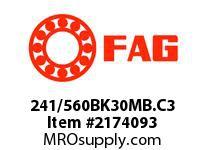 FAG 241/560BK30MB.C3 DOUBLE ROW SPHERICAL ROLLER BEARING