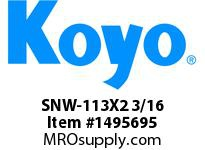 Koyo Bearing SNW-113X2 3/16 SPHERICAL BEARING ACCESSORIES