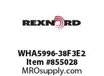 REXNORD WHA5996-38F3E2 WHA5996-38 F3 T2P WHA5996 38 INCH WIDE MATTOP CHAIN W
