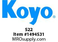 Koyo Bearing 522 TAPERED ROLLER BEARING