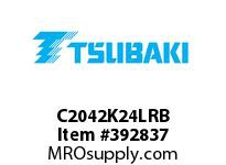 US Tsubaki C2042K24LRB C2042 RIV 4L/K-2