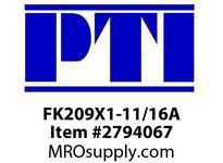 PTI FK209X1-11/16A 3-BLT FLGD BRACKET BRG-1-11/16 B4- MOUNTED BALL BRG & INSERT
