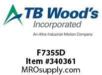 TBWOODS F7355D F7355D ITT SF COUP ASY