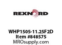 REXNORD WHP1505-11.25F2D WHP1505-11.25 F2 T21PN.75 WHP1505 11.25 INCH WIDE MATTOP CHAI