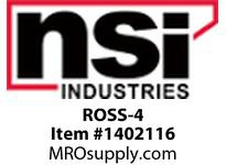 NSI ROSS-4 EASY-SPLICE DIRECT BURIAL ROLL-ON GEL STUB 2 WIRE STUB 14-4 AWG 3 WIRE STUB 14-8 AWG