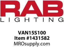 RAB VAN15S100 VANDALPROOF 15 ROUND 100W HPS 120V