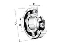 FAG 618/560M RADIAL DEEP GROOVE BALL BEARINGS