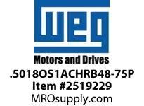 WEG .5018OS1ACHRB48-75P 1/2HP 1800 1/60/115V 75PP Nema 56 ODP