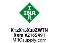 INA K12X15X20ZWTN Needle roller cage assembly